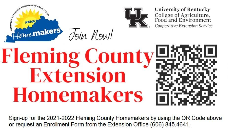 2021-22 Homemaker Sign Up with QR Code